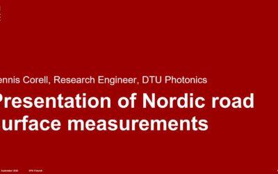 Video: Nordic road surface measurements